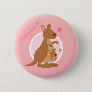 Cute Kangaroo Baby Joey Mother Child For Kids 6 Cm Round Badge