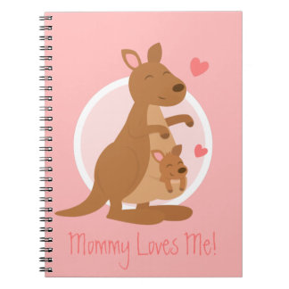 Cute Kangaroo Baby Joey Mother Child For Kids Notebooks