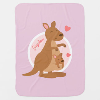 Cute Kangaroo Baby Joey Baby Blanket