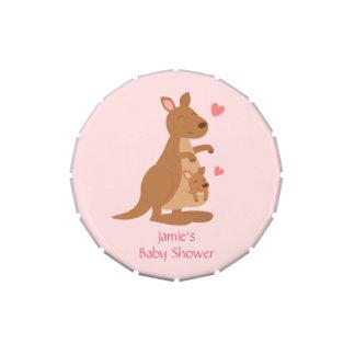 Cute Kangaroo Baby Shower Party Treats Jelly Belly Candy Tin