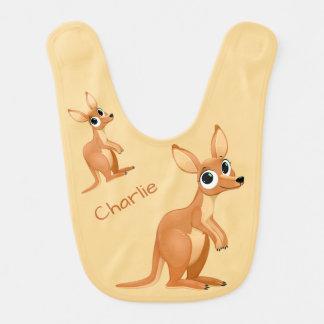 Cute Kangaroo custom name baby bib