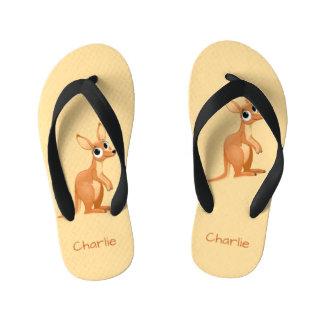 Cute Kangaroo custom name flip flops