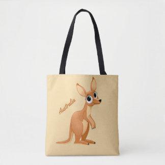 Cute Kangaroo custom text bags