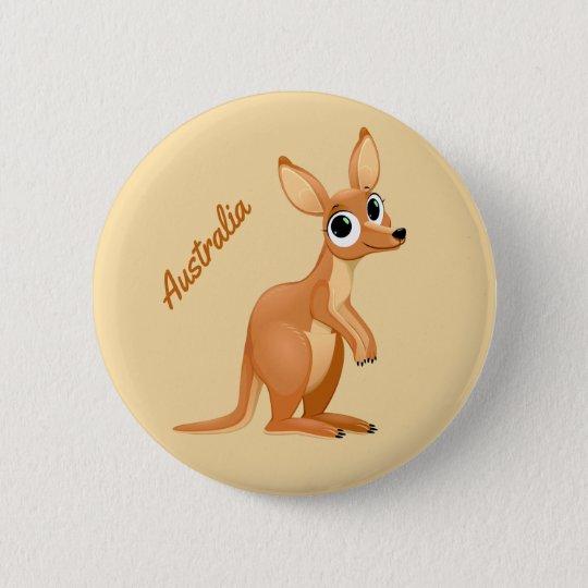Cute Kangaroo custom text buttons