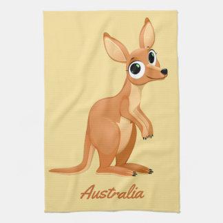 Cute Kangaroo custom text hand towel