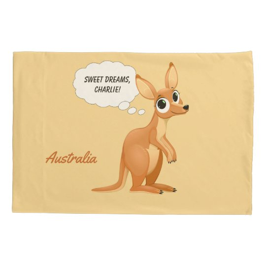 Cute Kangaroo custom text pillowcases
