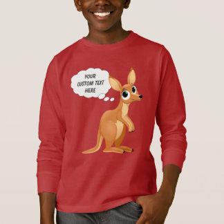 Cute Kangaroo custom text shirts & jackets