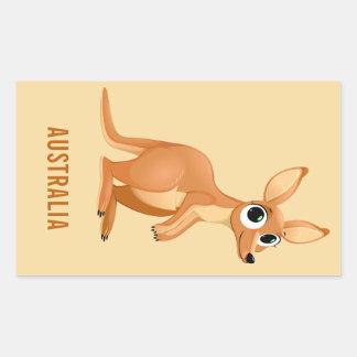 Cute Kangaroo custom text stickers