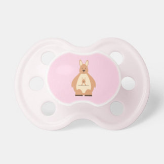 Cute Kangaroo Pink Baby Girl Baby Pacifier