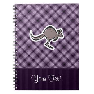 Cute Kangaroo; Purple Notebooks