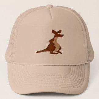 Cute kangaroo trucker hat