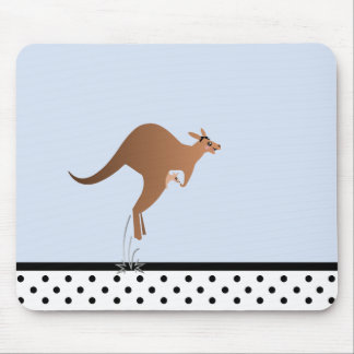 Cute kangaroo with baby in pouch mouse mat