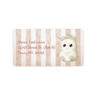 Cute Kawai Bunny Rabbit Label