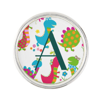 Cute,kawai,dinosaurs,kids,fun,happy,colourful,chic Lapel Pin