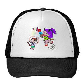 Cute Kawai Manga Ice cream Cat Girl Mesh Hats