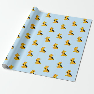 Cute Kawaii Airedale Puppy Dog Wrapping Paper