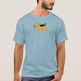 Cute Kawaii Airedale Terrier Dog With Hat T-Shirt