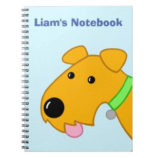 Cute Kawaii Airedale Terrier Puppy Face Notebook
