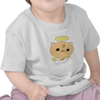Cute kawaii angel kitty with cookie t-shirt