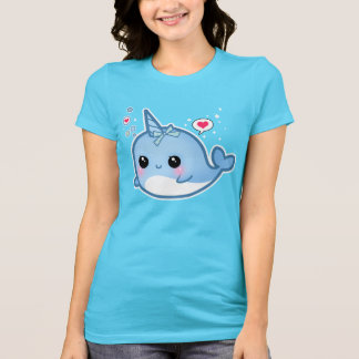 Cute kawaii baby narwhal t shirt