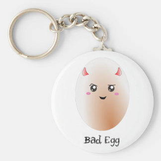 Cute kawaii bad egg keychain
