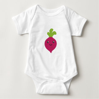 Cute Kawaii Beet Baby Bodysuit