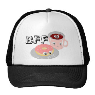 CUTE KAWAII BFF DNOUT AND COFFEE MESH HAT