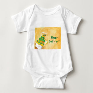 Cute Kawaii Birthday Cake Baby Bodysuit