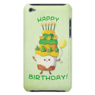 Cute Kawaii Birthday Cake Barely There iPod Cover