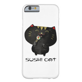 Cute Kawaii Black Sushi Cat Barely There iPhone 6 Case