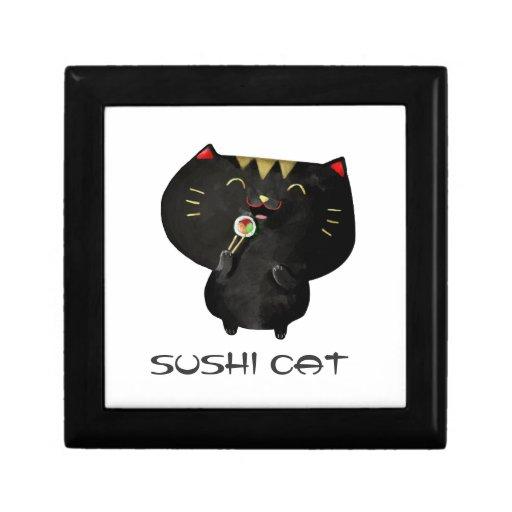 Cute Kawaii Black Sushi Cat Gift Boxes