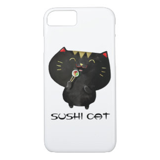 Cute Kawaii Black Sushi Cat iPhone 7 Case