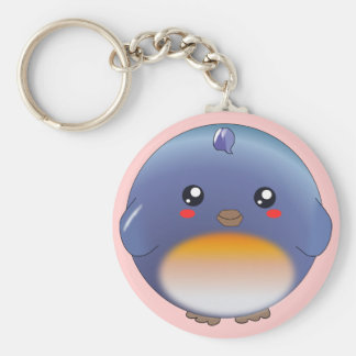 Cute kawaii bluebird keychain