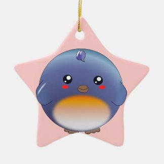 Cute kawaii bluebird ornament