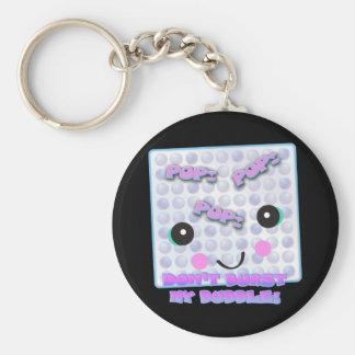Cute Kawaii Bubble Wrap Basic Round Button Key Ring