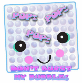 Cute Kawaii Bubble Wrap Standing Photo Sculpture