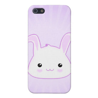 Cute Kawaii Bunny Rabbit Face in Lilac and White Cover For iPhone 5/5S