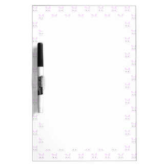 "Cute Kawaii Bunny Rabbit Face ""Polka Dot"" Pattern Dry Erase Whiteboard"