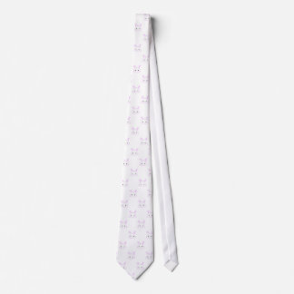 "Cute Kawaii Bunny Rabbit Face ""Polka Dot"" Pattern Tie"