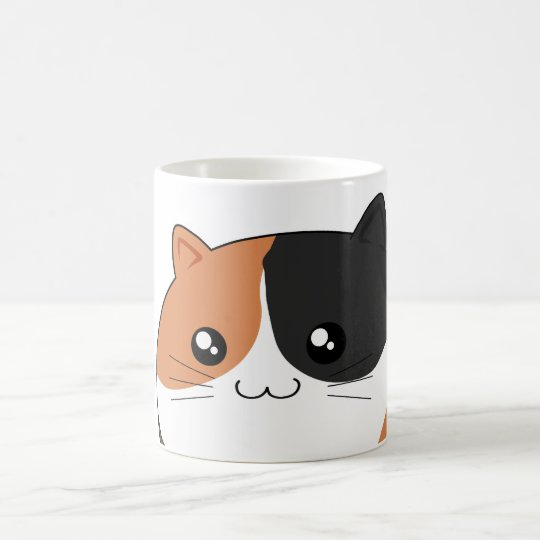 Cute Kawaii Calico kitty cat Coffee Mug