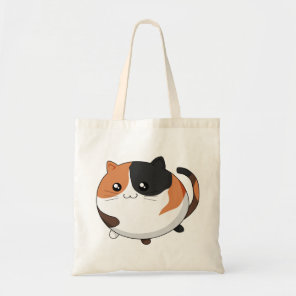 Cute Kawaii Calico kitty cat Tote Bag
