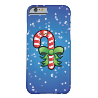 Cute Kawaii Candy Cane Christmas iPhone 6 Case Barely There iPhone 6 Case