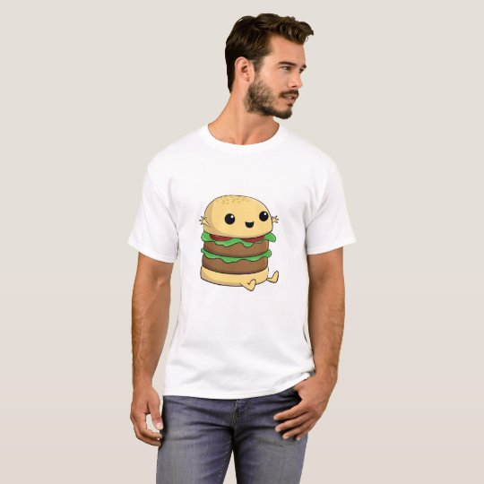 Cute, Kawaii Cartoon Burger T-Shirt