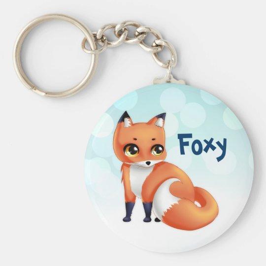 Cute Kawaii cartoon fox Key Ring