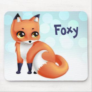 Cute Kawaii cartoon fox Mouse Mat