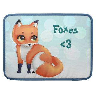 Cute Kawaii cartoon fox Sleeve For MacBook Pro