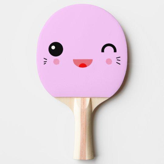 cute kawaii cartoon happy smiley face ping pong