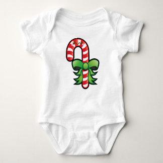 Cute Kawaii Christmas Candy Cane Baby Creeper