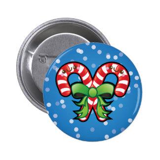 Cute Kawaii Christmas Candy Cane Pin Badge