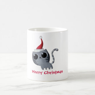 Cute Kawaii Christmas Cat Coffee Mug